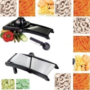 STAINLESS STEEL PROFESSIONAL MANDOLINE SLICER JULIENNE CUTTER CHOPPER FRUIT VEGETABLE VEG PEELER